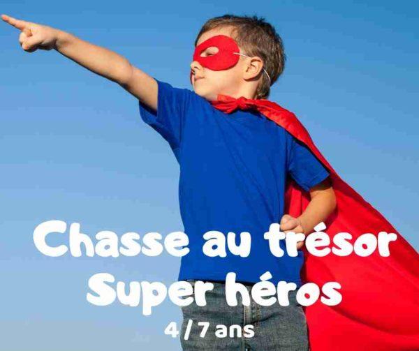 Chasse au trésor super héros à télécharger